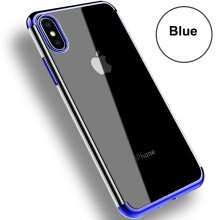 Keymao Apple iPhone X Case Transparent TPU  Electroplating Clear Silicon Phone Cases