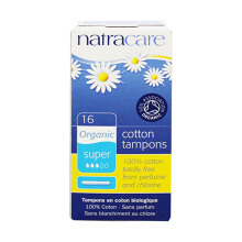 NATRACARE Applicator Tampons Extra/ Super (NEW) 16 pcs