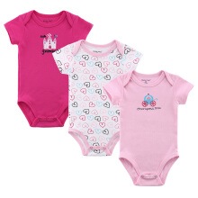 Mother Nest 3 pcs Baby rompers Short Sleeves Summer Clothing Cute Pure Cotton Jumpsuits & Pajamas of boys and girls #4