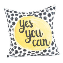 GLERRY HOME DECOR Yes You Can Cushion Cover - 40x40Cm