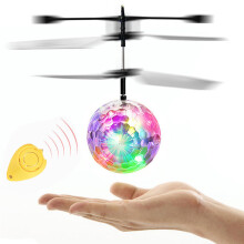 BESSKY Flying RC Electric Ball LED Flashing Light Aircraft Helicopter - Black