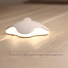 JDWonderfulHouse JDwonderfulhouse USB charging body sensor night light bedroom LED lights - White