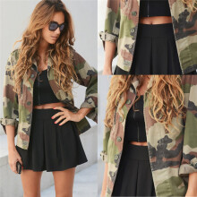 BESSKY  Women Camouflage Jacket Coat Autumn Winter Street Jacket Women Casual Jackets-