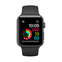 APPLE Watch Series 1 38mm MP022 Space Gray Aluminum Case with Black Sport Band