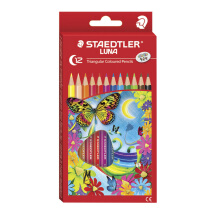STAEDTLER Luna Triangular Coloured Pencils - Permanent 12 warna