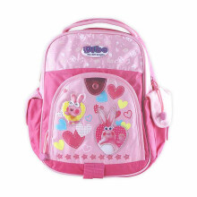DIBO Backpack Design 3 Bunny Pink 12 Inchi
