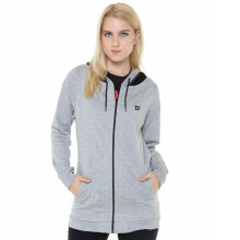 DAMN! I LOVE INDONESIA Hoodie Female D! Mesh - Misty Grey
