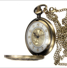 Men's gold dial vintage pocket watch - Bronze