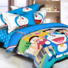 PANTONE Doraemon Fun Bed Cover Set Single Fitted / 100x200cm