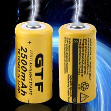 4pcs 3.7V 16340 2500mAh Li-ion Rechargeable Battery For Flashlight Torch