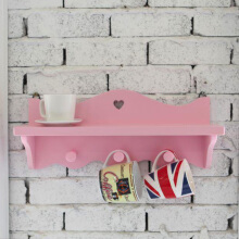 LIVIEN Furniture - Rak Dinding Gantungan Serbaguna Evelyn Series Pink
