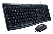 Logitech MK200 Combo Mouse Keyboard - Black