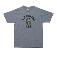 A BATHING APE ABC Camo Collage Tee - Grey [L] 0ZX TE M110007 8 GYM