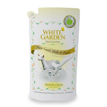 WHITE GARDEN Shower Cream Pure Goat's Milk & Pearl - Refill 900ml