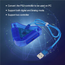 Joypad Game Controller to PC USB Converter Adapter For PS2 Playstation 2