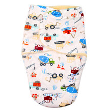 baby Short plush double little swaddle-truck and crane