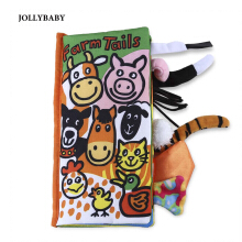 JOLLYBABY 10 Pages Educational Cloth Book(Farm Tails)
