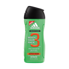 ADIDAS Active Start Shower Gel, Hair & Body 250ml