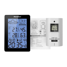 EXCELVAN Wireless Weather Station with Precision Forecast, Temperature, Humidity, Moon Phase, Barometer