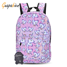 Guapabien Travel Girls 3D Unicorn Print Backpack School Bag