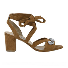 BIONDA CASTANA Ruby Crystal Embellished Sandals - Brown