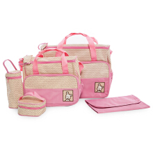 Fashionable Babies Diaper Nappy Changing Mummy Handbag(Pink)