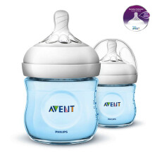 AVENT Bottle Natural 2.0 Twin Pack 125ml - Blue SCF692/23