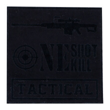 Tactical Series Velcro Patch 9 x 9 cm - Tactical One Shot One Kill - Black
