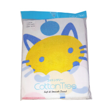 COTTON TREE Towel Handuk Pig Cat [60x120cm]