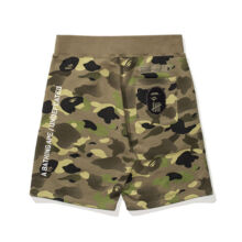 A BATHING APE Und Camo Sweat Shorts Olivedrab - Green