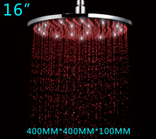 LANGFAN LED Light Rain Top Shower Head T-5107 Rainfall Shower 16Inch