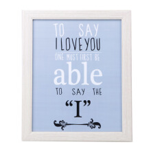 BLOOM & BLOSSOM To Say I Love You Poster with Frame 25x30cm