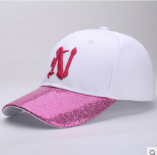 BAI B-266 Adjustable Baseball Cap MBL Hiphop cap with N design White&Pink color