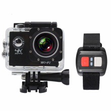 Vfocs 4K 1080P Ultra Camcorder Remote Control Sports Action Camera - Black