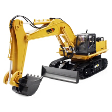 HUINA TOYS 1510 RC Alloy Excavator RTR Deep Yellow