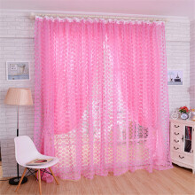 BESSKY Rose Tulle Window Screens Door Balcony Curtain Panel Sheer Scarfs_