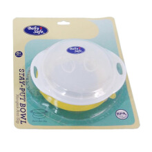 BABY SAFE Stay Put Bowl - Yellow
