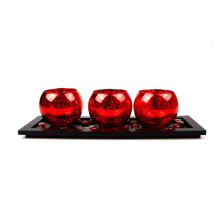 BLOOM & BLOSSOM Candle Holder Set CLW925 - Red