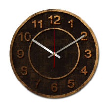 NAIL YOUR ART Bronze Wall Clock/30x30Cm