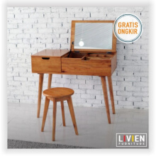 Meja Rias Lipat Set Hening Series - 900 - LIVIEN FURNITURE