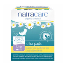 NATRACARE Ultra Pads Long with Wings 10's