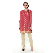 CHANIRA FESTIVE COLLECTION Raqia Glitter Short Tunic - Peach