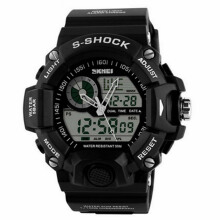 SKMEI Jam Tangan Pria Digital Analog Waterproof LED Watch 1029 - Hitam