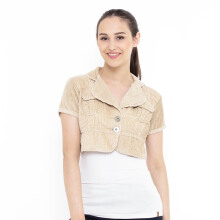 Mobile Power E8501 Ladies Bolero Cropped Outer Corduroy - Coklat Cream