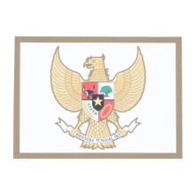 Tactical Series Velcro Patch 9 x 6.5 cm - Garuda Pancasila - White Green