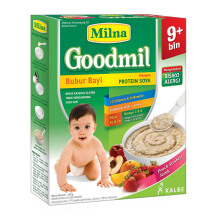 MILNA Goodmil 9+ Bubur Bayi Peach Strawberry Jeruk Box - 120gr