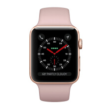 APPLE Watch Series 3 MQKW2 38mm GPS Only Gold Aluminum Case with Pink Sand Sport Band