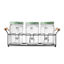 NAKAMI Glass Canister 800ML 3pcs Set NK-GC03800-G