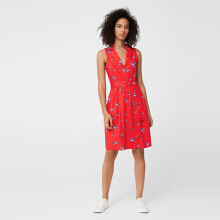 MANGO Printed Shirt Dress - Red