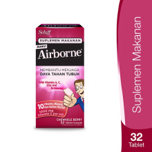 AIRBORNE Chewable Berry 32 Tablet